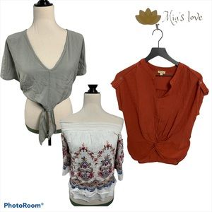 Lily white and ... lot top women sz S